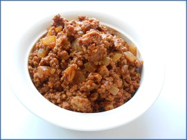 Cooked Chili Meat in Bowl