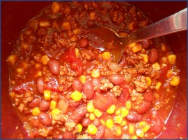 Cooked Chili in Crock Pot