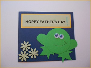 frog card for father's day