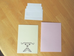// Card stock and cake top template. Vector Flourishes  printed on card stock.