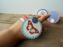 Use these as a bracelet or napkin ring